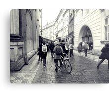 Daily life in Prague Metal Print
