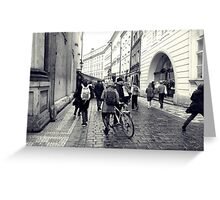 Daily life in Prague Greeting Card