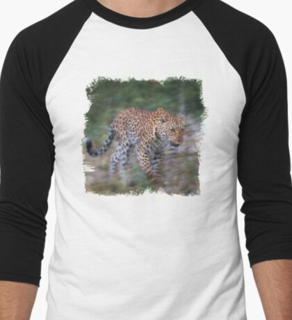 Leopard on the Prowl Men's Baseball ¾ T-Shirt