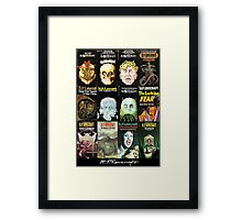 H P Lovecraft Covers Framed Print