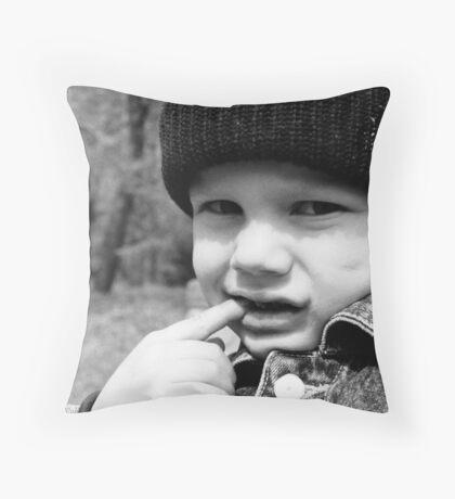 Siberian Boy Throw Pillow