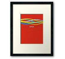 Linux Rainbow Framed Print