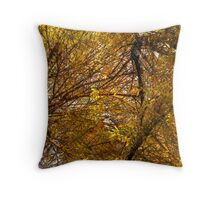 Composition With Trees, Foliage, Sky #3 – February 27, 2010 Throw Pillow