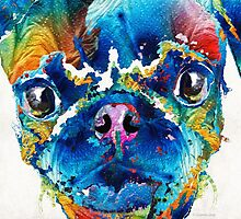 Colorful Pug Art - Smug Pug - By Sharon Cummings by Sharon Cummings