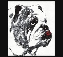 Bulldog Pop Art - How Bout A Kiss 2 - By Sharon Cummings Baby Tee