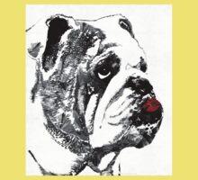 Bulldog Pop Art - How Bout A Kiss 2 - By Sharon Cummings Kids Tee