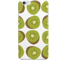 Kiwi Pattern - White iPhone Case/Skin