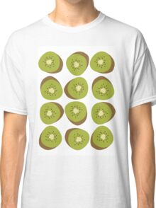 Kiwi Pattern - White Classic T-Shirt