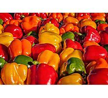Sweet Bell Peppers Photographic Print