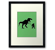 Gone Squatchin with T-rex Framed Print