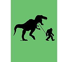 Gone Squatchin with T-rex Photographic Print