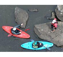 white water rafting .  Photographic Print
