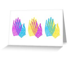 Rainbow Hands Applause Greeting Card