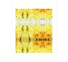 Yellow Abstract Art - Good Vibrations - By Sharon Cummings Art Print