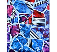 Mosaic Blue Photographic Print