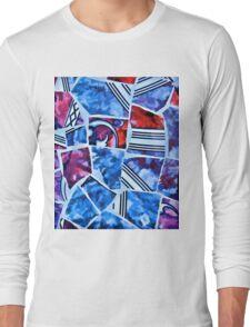 Mosaic Blue Long Sleeve T-Shirt