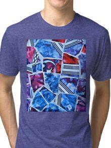 Mosaic Blue Tri-blend T-Shirt