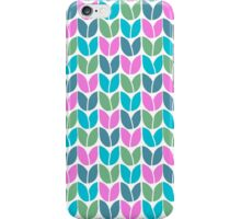 Tulip Knit (Blue Pink Green) iPhone Case/Skin