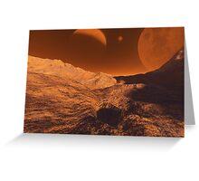 Martian Terrain Greeting Card