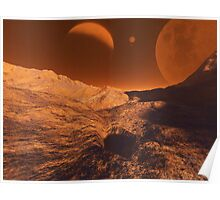 Martian Terrain Poster