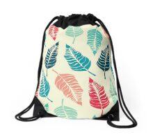 Leave Me Multi (Aqua Red) Drawstring Bag