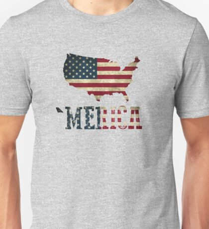 'Merica with U.S. Outline Unisex T-Shirt