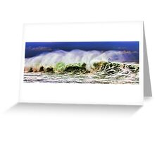 Ocean Power Wave Greeting Card
