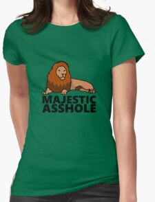 Majestic Asshole Lion Womens Fitted T-Shirt