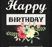 Stylish Happy Birthday Card by RumourHasIt