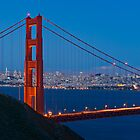San Francisco through the Golden Gate Bridge by Zane Paxton