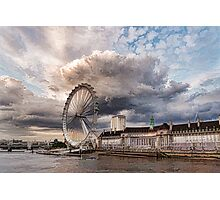 Impressions of London - London Eye Dramatic Skies Photographic Print