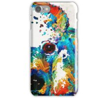 Colorful Poodle Dog Art by Sharon Cummings iPhone Case/Skin