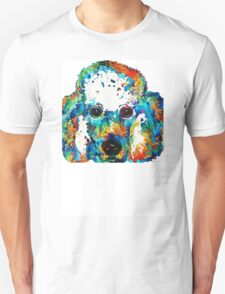 Colorful Poodle Dog Art by Sharon Cummings Unisex T-Shirt