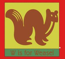 Weasel Animal Alphabet Kids Tee