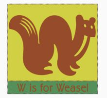 Weasel Animal Alphabet by Zehda