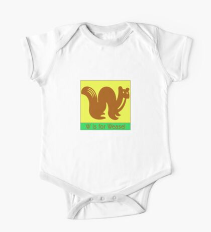 Weasel Animal Alphabet One Piece - Short Sleeve
