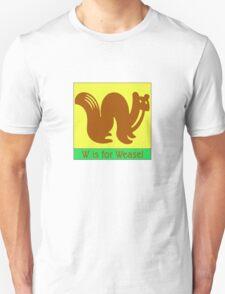 Weasel Animal Alphabet Unisex T-Shirt