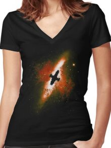 Firefly in the Sky Women's Fitted V-Neck T-Shirt
