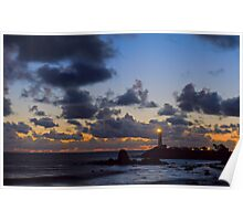 Pigeon Point Lighthouse Clearing Storm Poster