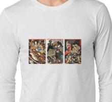 Samurai Tryptych Long Sleeve T-Shirt