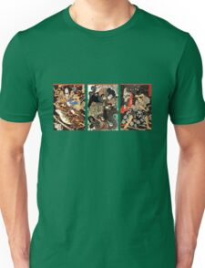 Samurai Tryptych Unisex T-Shirt