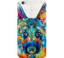 Colorful German Shepherd Dog Art By Sharon Cummings iPhone Case/Skin