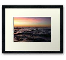 Sunrise at Bar Beach Newcastle Framed Print