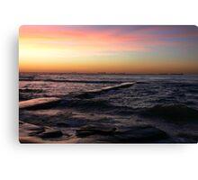 Sunrise at Bar Beach Newcastle Canvas Print
