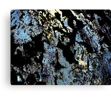 Canal Lock with peeling paint Canvas Print