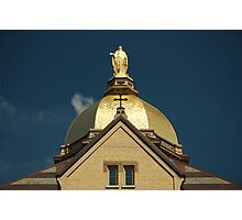 Golden Dome-University of Notre Dame Photographic Print