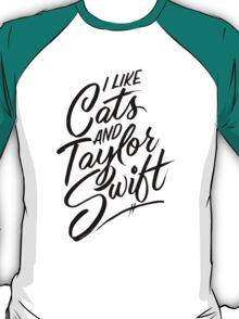 I Like Cats & Taylor Swift T-Shirt