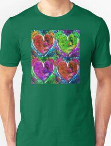 Colorful Pop Hearts Love Art By Sharon Cummings T-Shirt
