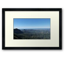 Lookout! 'Best view in Oz', Lyrebird Road, Springbrook, Qld. Framed Print