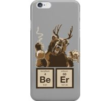 Chemistry bear discovered beer iPhone Case/Skin